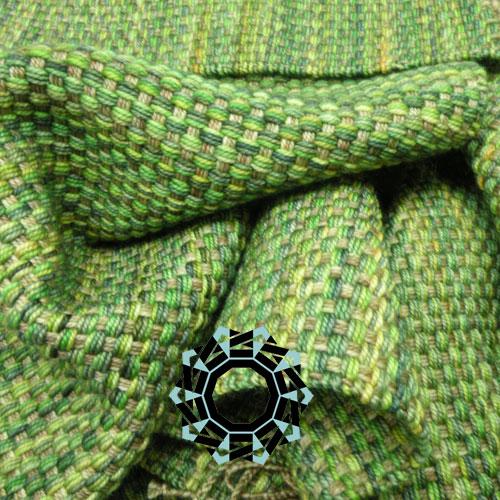 Classic green-beige scarf / Klasyczny szalik beżowo-zielony by Tender December, Alina Tyro-Niezgoda