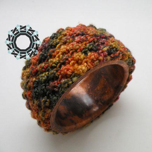 Copper bracelet in the shades of autumn / Jesienna bransoletka by tender December, Alina Tyro-Niezgoda