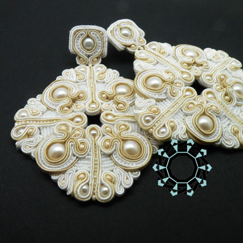 Wedding soutache earrings / Kolczyki ślubne by Tender December, Alina Tyro-Niezgoda