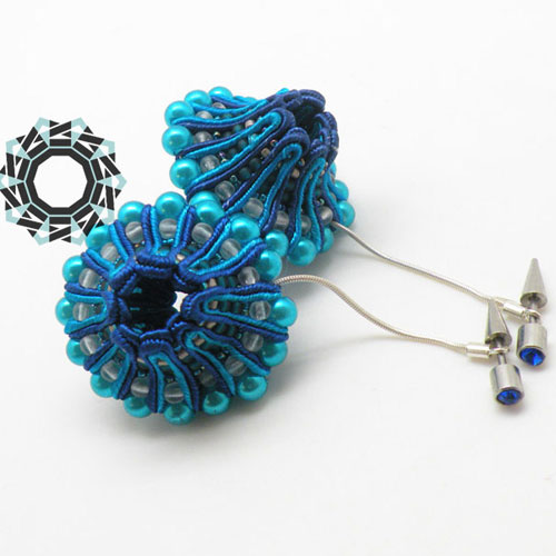 3D Soutache earrings (blue) / Kolczyki soutache 3D (niebieskie) by tender December, Alina Tyro-Niezgoda