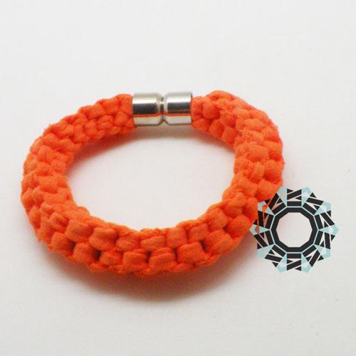 Cotton recycling (orange) / Bawełniany recycling (pomarańczowa) by tender December, Alina Tyro-Niezgoda