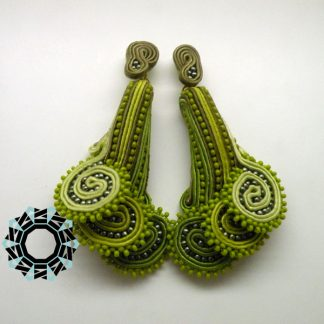 "3D Fern Soutache Earrings / Kolczyki 3D ""Młode paprotki"" by Tender December, Alina Tyro-Niezgoda"