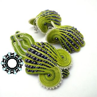 Soutache brooch and earrings / Broszka i kolczyki soutache by Tender December, Alina Tyro-Niezgoda