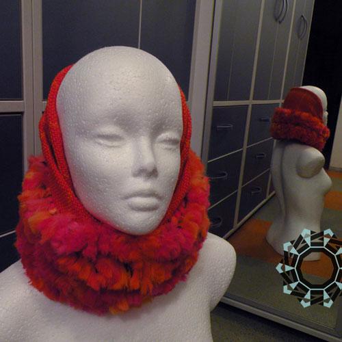 Fluffy red hat / Puchata czapka czerwona by Tender December, Alina Tyro-Niezgoda