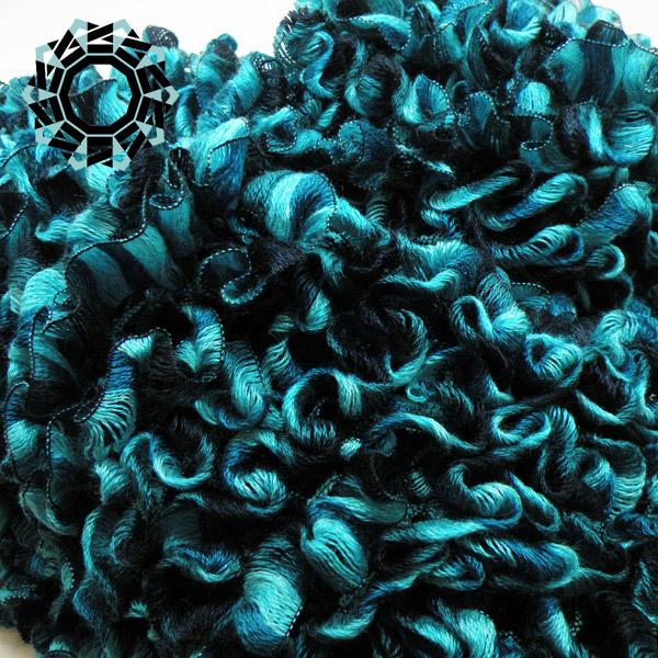 Spring scarf (blue-turquoise) / Wiosenny szalik by Tender December, Alina Tyro-Niezgoda