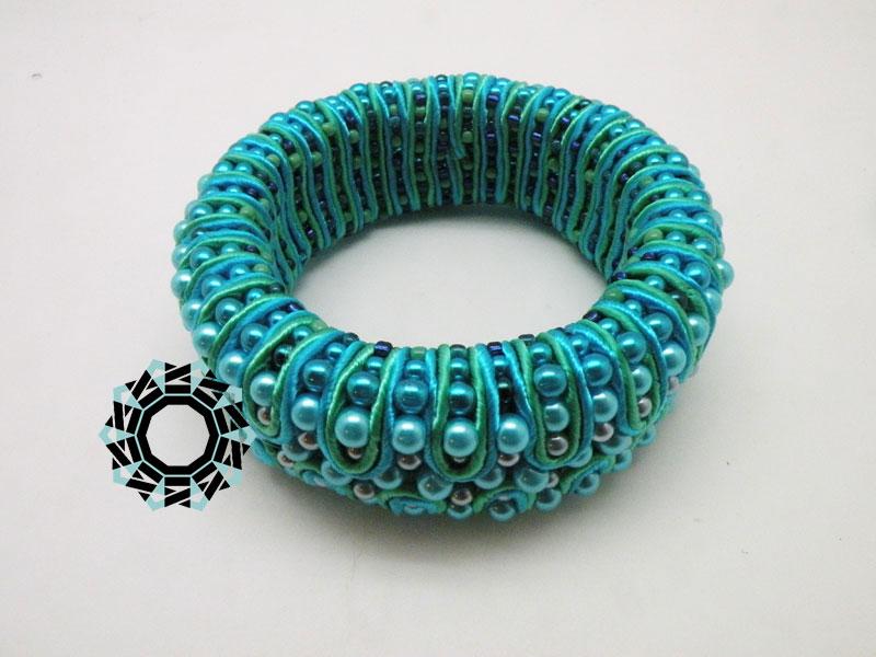 Turquoise 3D soutache bracelet / Bransoletka soutache (turkusowa) by Tender December, Alina Tyro-Niezgoda