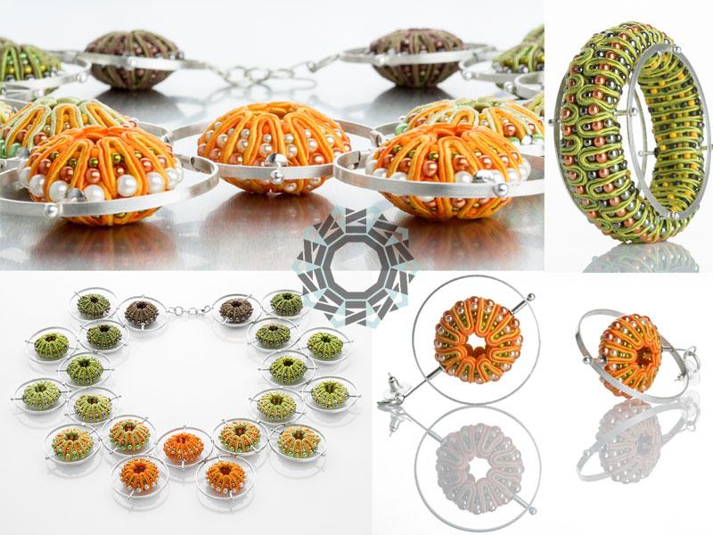 """Satelit"" 3D soutache necklace / ""Satelit"" naszyjnik soutache 3D by Tender December, Alina Tyro-Niezgoda"