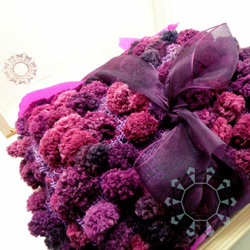 Scarf with bubbles (purple) / Szalik z bąbelkami (fioletowy) by Tender December, Alina Tyro-Niezgoda