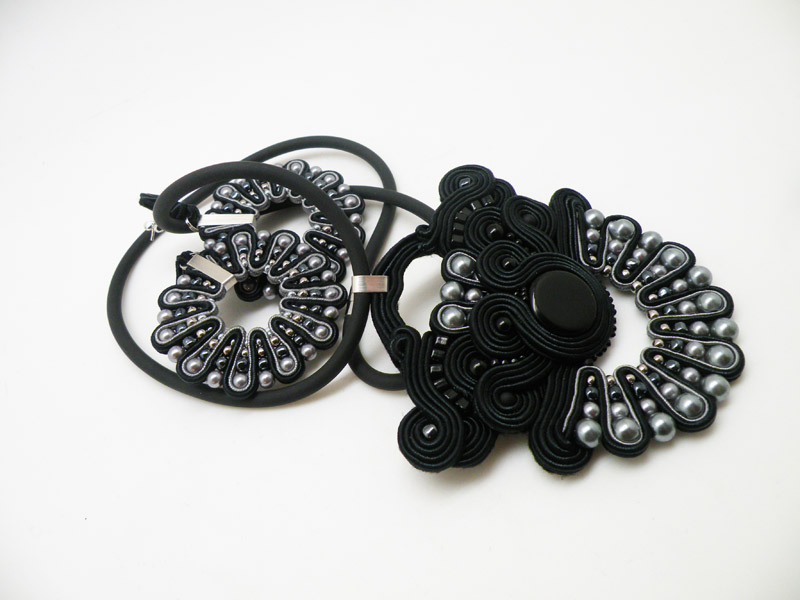 Soutache pendant and earrings / Wisior i kolczyki soutache by Tender December, Alina Tyro-Niezgoda