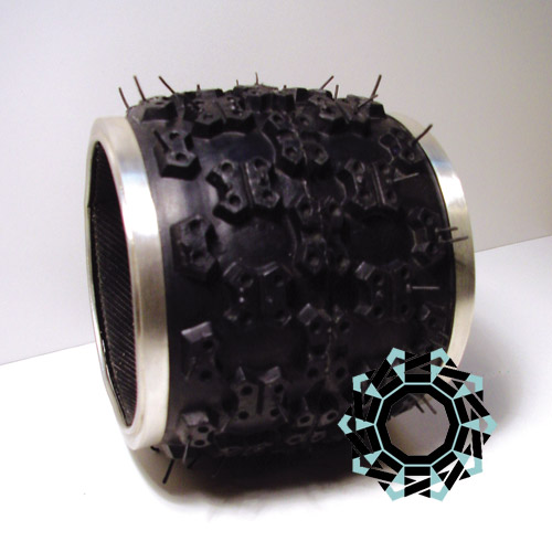 Silver & rubber bracelet / Bransoleta ze srebra i gumy by Tender December, Alina Tyro-Niezgoda