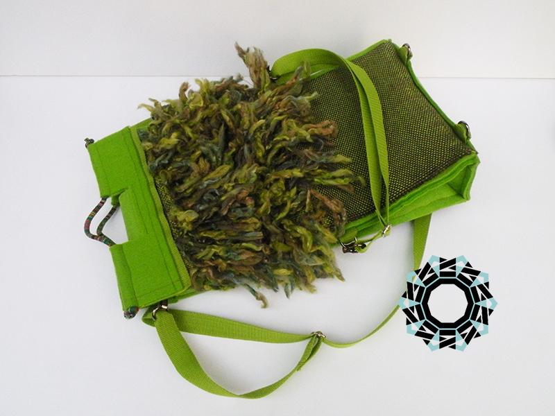 """Floki"" green bag / Zielona torebka ""Floki"" by Tender December, Alina Tyro-Niezgoda"