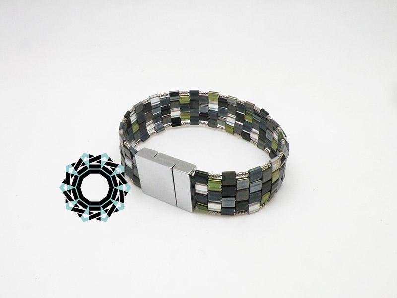Square mosaic purse set / Kwadratowa torebka z mozaiki zestaw by Tender December, Alina Tyro-Niezgoda