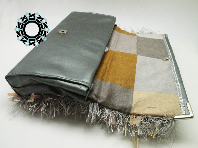 "Gray ""Fur"" for the evening bag / Torebka Szare ""futro"" na wieczór by Tender December, Alina Tyro-Niezgoda"