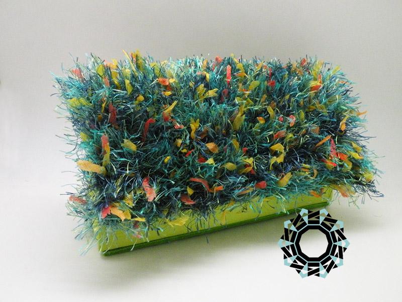 "Green ""Fur"" for the evening bag / Torebka Zielone ""futro"" na wieczór by Tender December, Alina Tyro-Niezgoda"