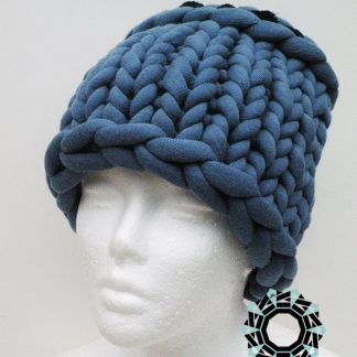 Mega-scale blue cap / Niebieska czapka w mega skali by Tender December, Alina Tyro-Niezgoda