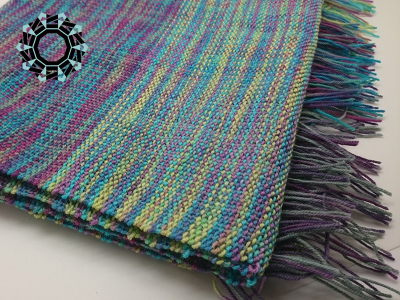 Three-coloured scarf / Szalik w trzech odcieniach by Tender December, Alina Tyro-Niezgoda