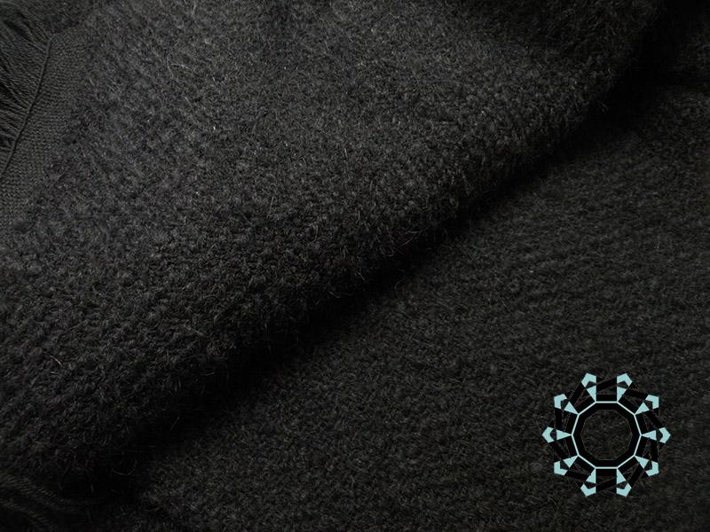XXL black mohair shawl / Moherowy czarny szal XXL by Tender December, Alina Tyro-Niezgoda