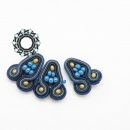 Blue soutache earrings / Granatowe kolczyki soutache by Tender December, Alina Tyro-Niezgoda,