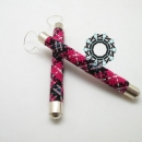 Plaid pattern earrings / Kolczyki w kratkę by Tender December, Alina Tyro-Niezgoda,