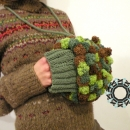 Fluffy handwarmer / Puchata mufka by Tender December, Alina Tyro-Niezgoda,