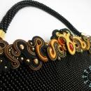 Beaded handbag with soutache ornament / Torebka z koralików i soutache by Tender December, Alina Tyro-Niezgoda,