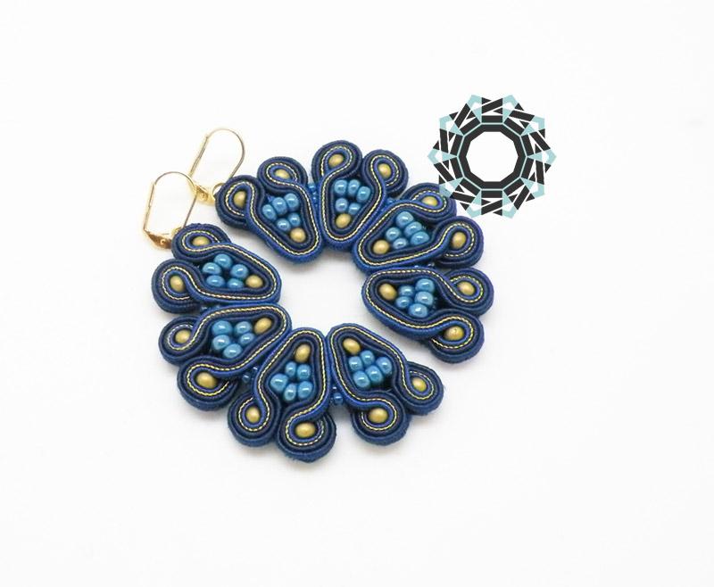 Blue soutache earrings / Granatowe kolczyki soutache by Tender December, Alina Tyro-Niezgoda