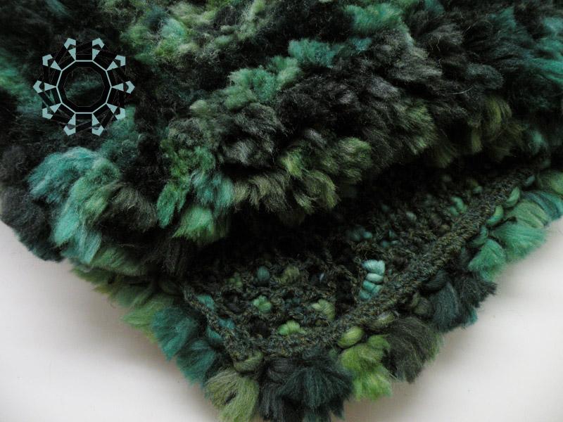 Fluffy green cap / Zielona puchata czapka by Tender December, Alina Tyro-Niezgoda