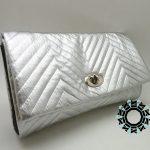 Silver zigzags bag / Torebka Srebrne zygzaki by Tender December, Alina Tyro-Niezgoda