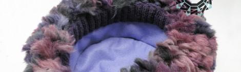 Fluffy cap in plum color / Puchata czapa w kolorze śliwki