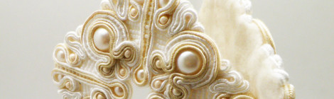 Wedding soutache earrings / Ślubne kolczyki soutache
