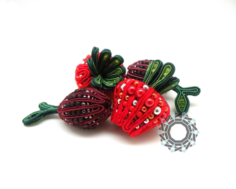 Fruit soutache / Sutasz owocowy by Tender December, Alina Tyro-Niezgoda