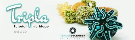 3D soutache – free tutorial / Sutasz 3D – darmowy tutorial by Tender December, Alina Tyro-Niezgoda