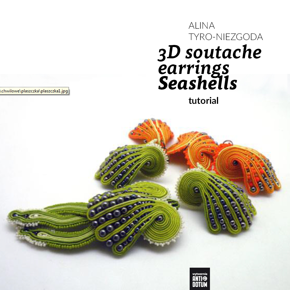 3D soutache earrings Seashells tutorial by Tender December, Alina Tyro-Niezgoda