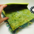 "Green, evening ""fur"" bag / Zielone ""futro"" na wieczór by Tender December"