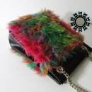 "Full color ""fur"" bag/ Torebka Pełnokolorowe ""futro"" by Tender December"