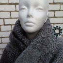 """Asymmetrical colours"" shawl / Szal ""Niesymetryczne kolory"" by Tender December"