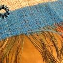 Blue stripes scarf / Szalik w niebieskie pasy by Tender December, Alina Tyro-Niezgoda,