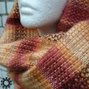 Mohair scarf in stripes / Szalik moherowy w pasy by Tender December, Alina Tyro-Niezgoda