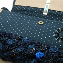 "Blue rose bag / Torebka ""Granatowa róża"" by Tender December"