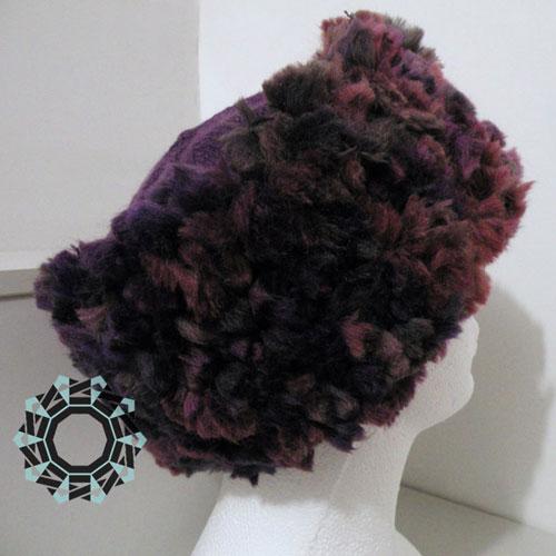 Fluffy hat in plum color / Puchata czapka w kolorze śliwki by Tender December, Alina Tyro-Niezgoda