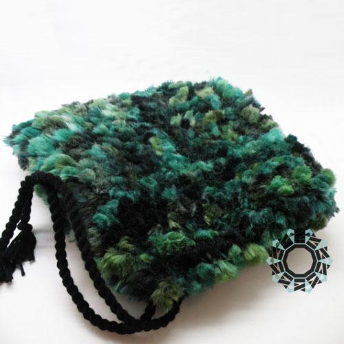 Fluffy green hat / Puchata czapka zielona by Tender December, Alina Tyro-Niezgoda