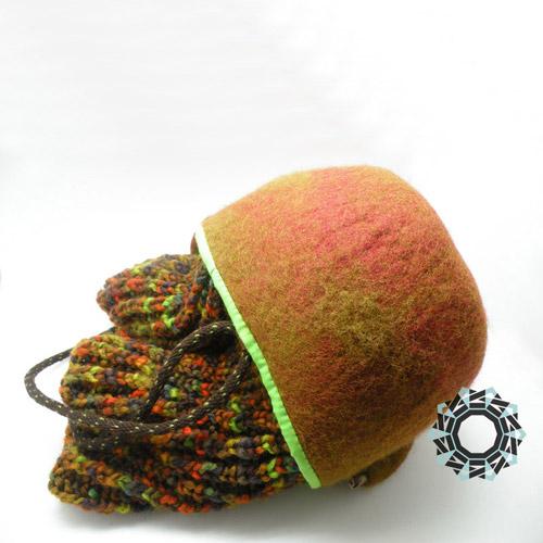 Felt basket / Filcowy koszyk by Tender December, Alina Tyro-Niezgoda