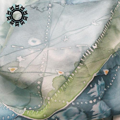 Silk painting scarf / Malowane na jedwabiu by Tender December, Alina Tyro-Niezgoda