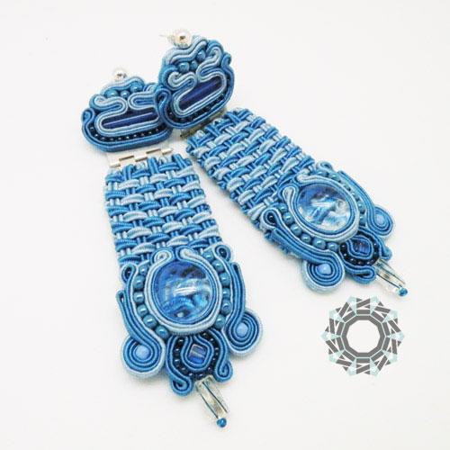 Soutache earings (blue) / Kolczyki soutache (niebieskie) by Tender December, Alina Tyro-Niezgoda