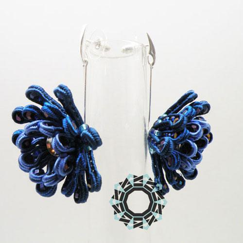 3D Soutache earrings (flower) / Kolczyki soutache 3D (kwiatowe) by Tender December, Alina Tyro-Niezgoda