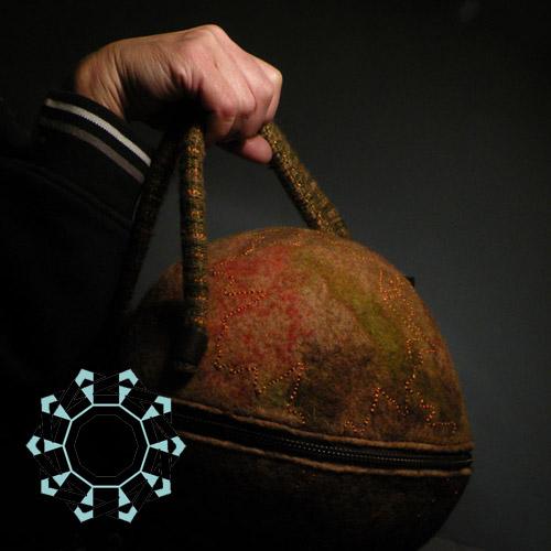 Felt around bag / Torebka Filc na okrągło by Tender December, Alina Tyro-Niezgoda