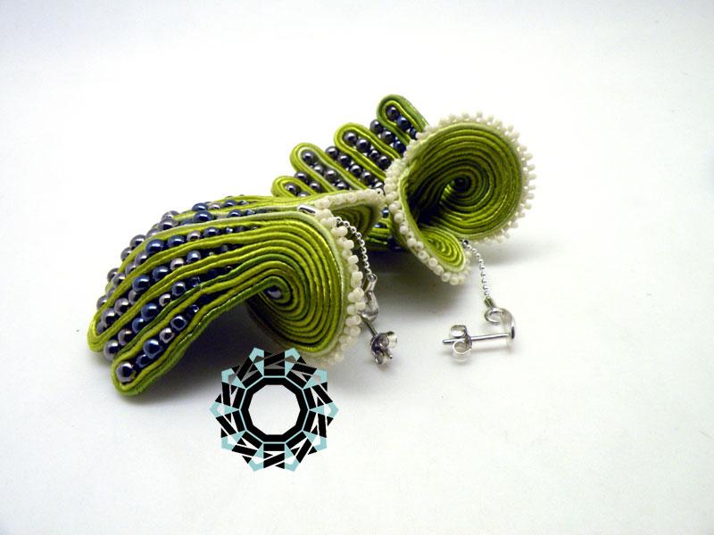 Soutache brooch and earrings / Broszka i kolczyki soutache by Tender December, Alina Tyro-Niezgoda