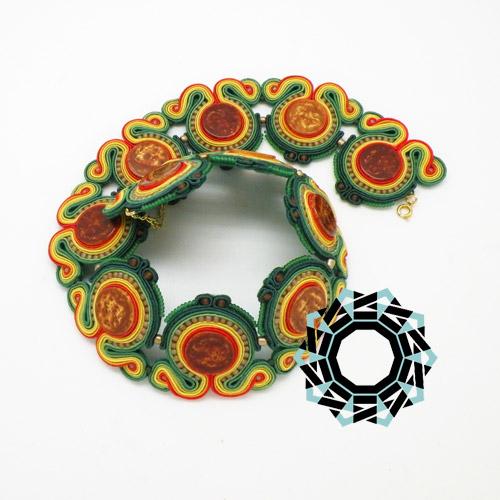 Soutache necklace / Naszyjnik soutache by Tender December, Alina Tyro-Niezgoda