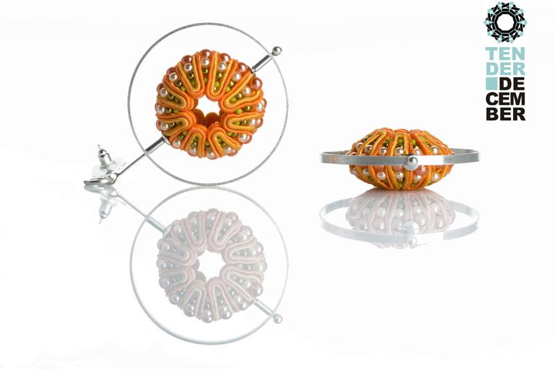 """""""Satelit"""" 3D soutache earrings / """"Satelit"""" kolczyki soutache 3D by Tender December, Alina Tyro-Niezgoda"""
