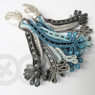 Soutache earings (blue/grey) / Kolczyki soutache (niebiesko-szare) by Tender December, Alina Tyro-Niezgoda